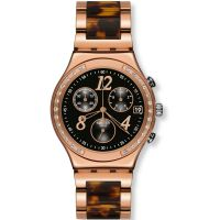 Damen Swatch Dreamnight Rose Chronograph Watch YCG404GC