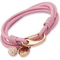 femme Unique & Co Pink Leather Bracelet 19cm Watch B153PI/19CM