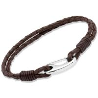 Biżuteria damska Unique & Co Brown Leather Bracelet 19cm B33DB/19CM