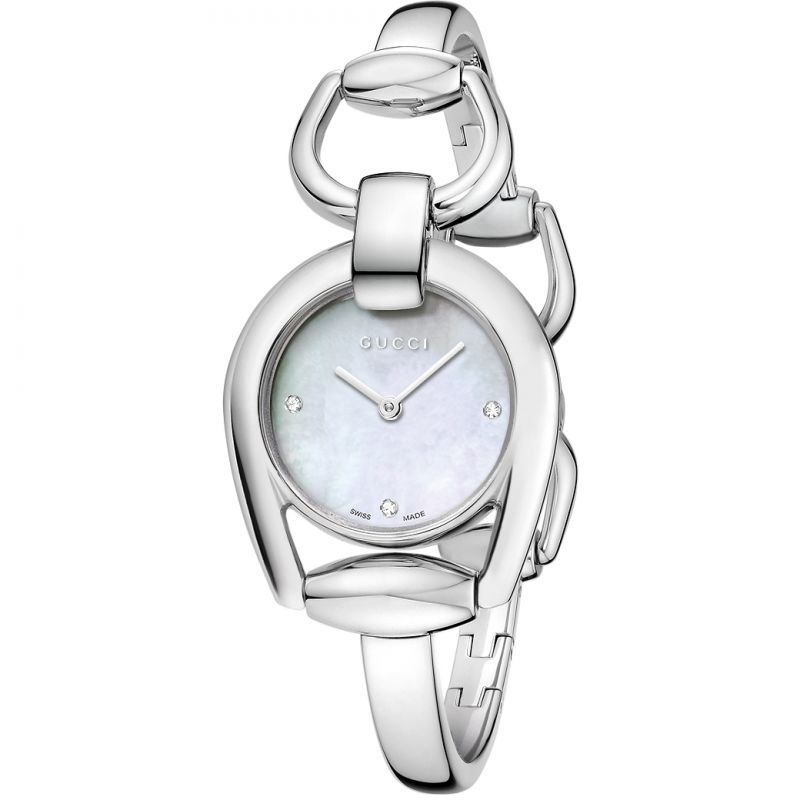 Ladies Gucci Horsebit Diamond Watch YA139506
