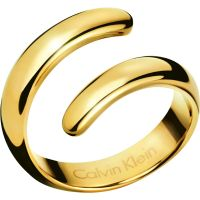Ladies Calvin Klein PVD Gold plated Size L.5 Embrace Ring KJ2KJR100106