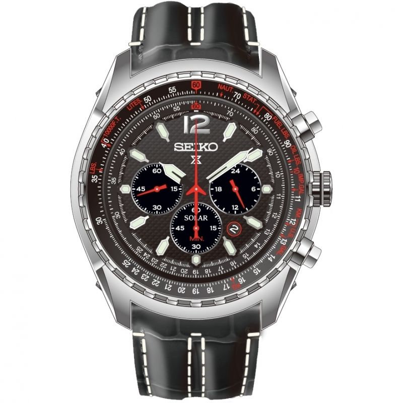 Mens Seiko Prospex Chronograph Solar Powered Watch SSC261P2