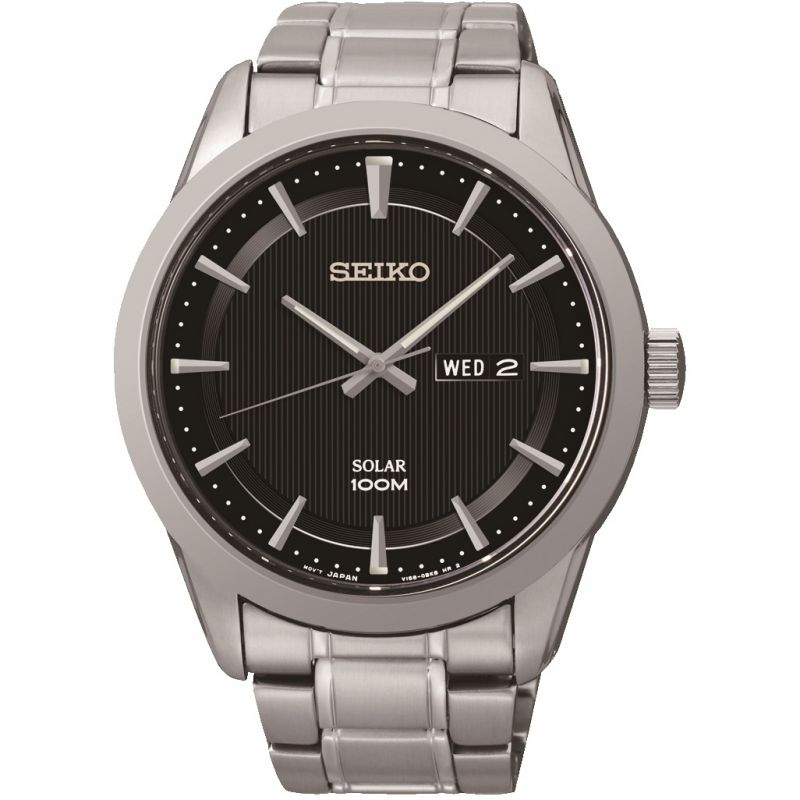 Herren Seiko Solar Powered Watch SNE363P1