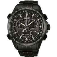 Mens Seiko Astron GPS Titanium Chronograph Radio Controlled Solar Powered Watch