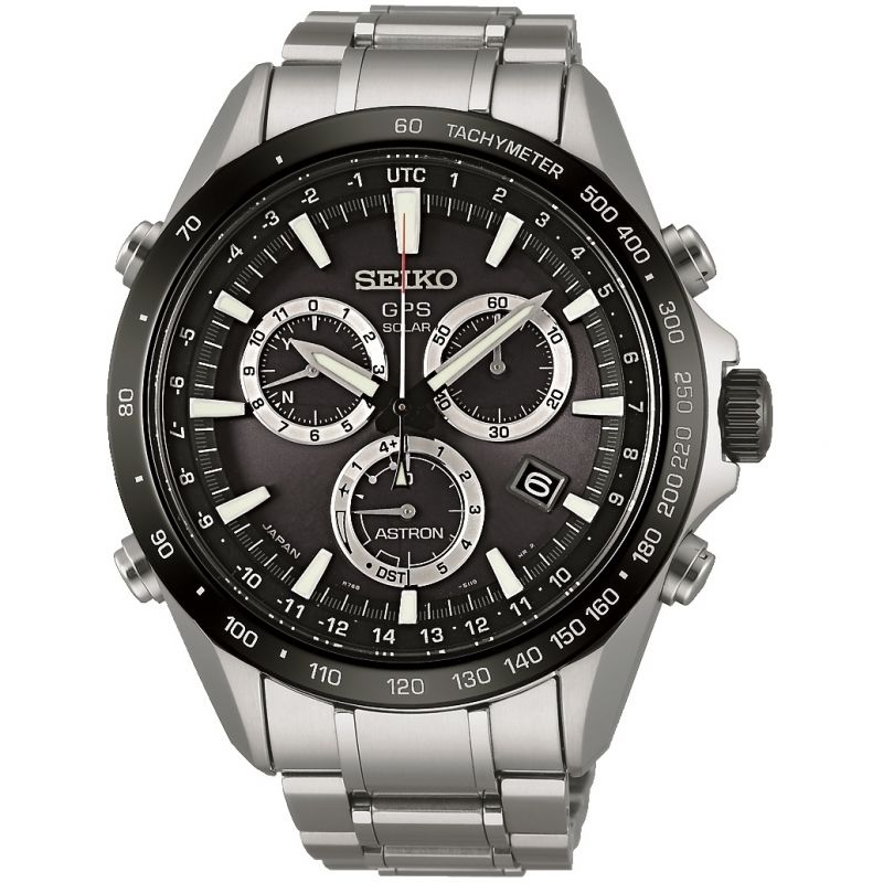 Mens Seiko Astron GPS Chronograph Radio Controlled Solar Powered Watch SSE011J1