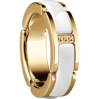 Ladies Bering PVD Gold plated Link Ring Size P 502-25-85