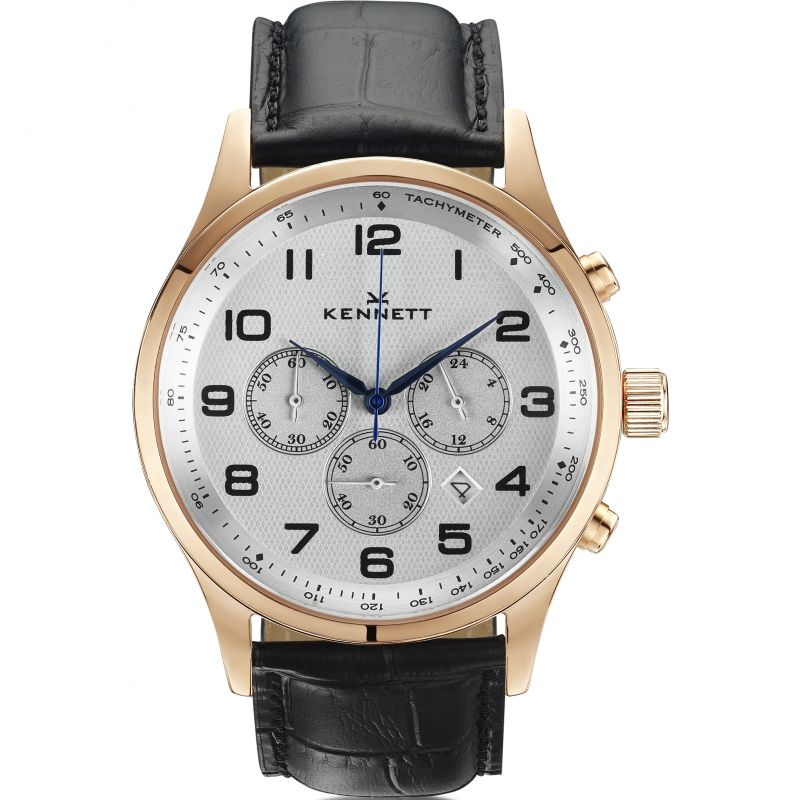 Mens Kennett Savro Modern Chronograph Watch SVRGWHBLMD