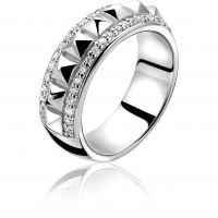 Ladies Zinzi Sterling Silver Ring Size N