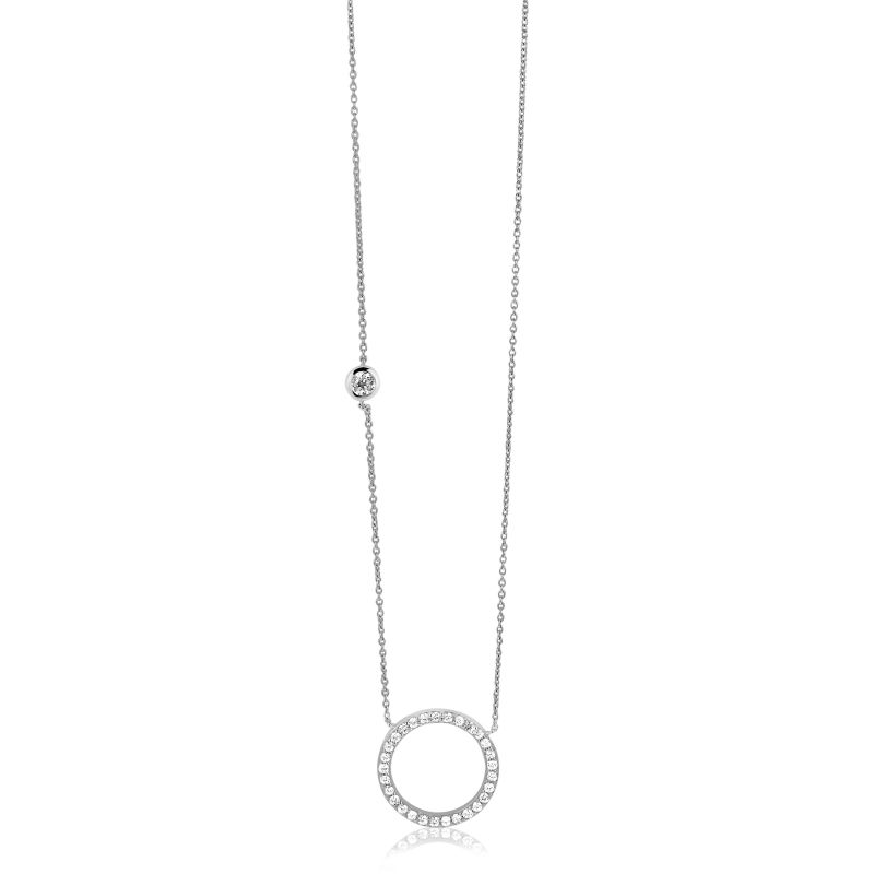 Ladies Zinzi Sterling Silver Necklace ZIC1067