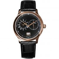 Mens Dreyfuss Co 1946 Dual Time Zone Watch