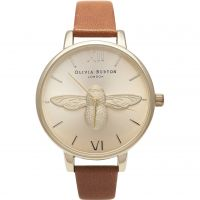Ladies Olivia Burton Animal Motif 3D Bee Big Dial Watch