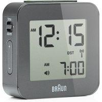 horloge Braun Clocks Travel Alarm Clock Radio Controlled BNC008GY-RC