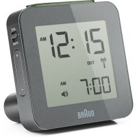 Braun Clocks Digital Alarm Clock Radio Controlled