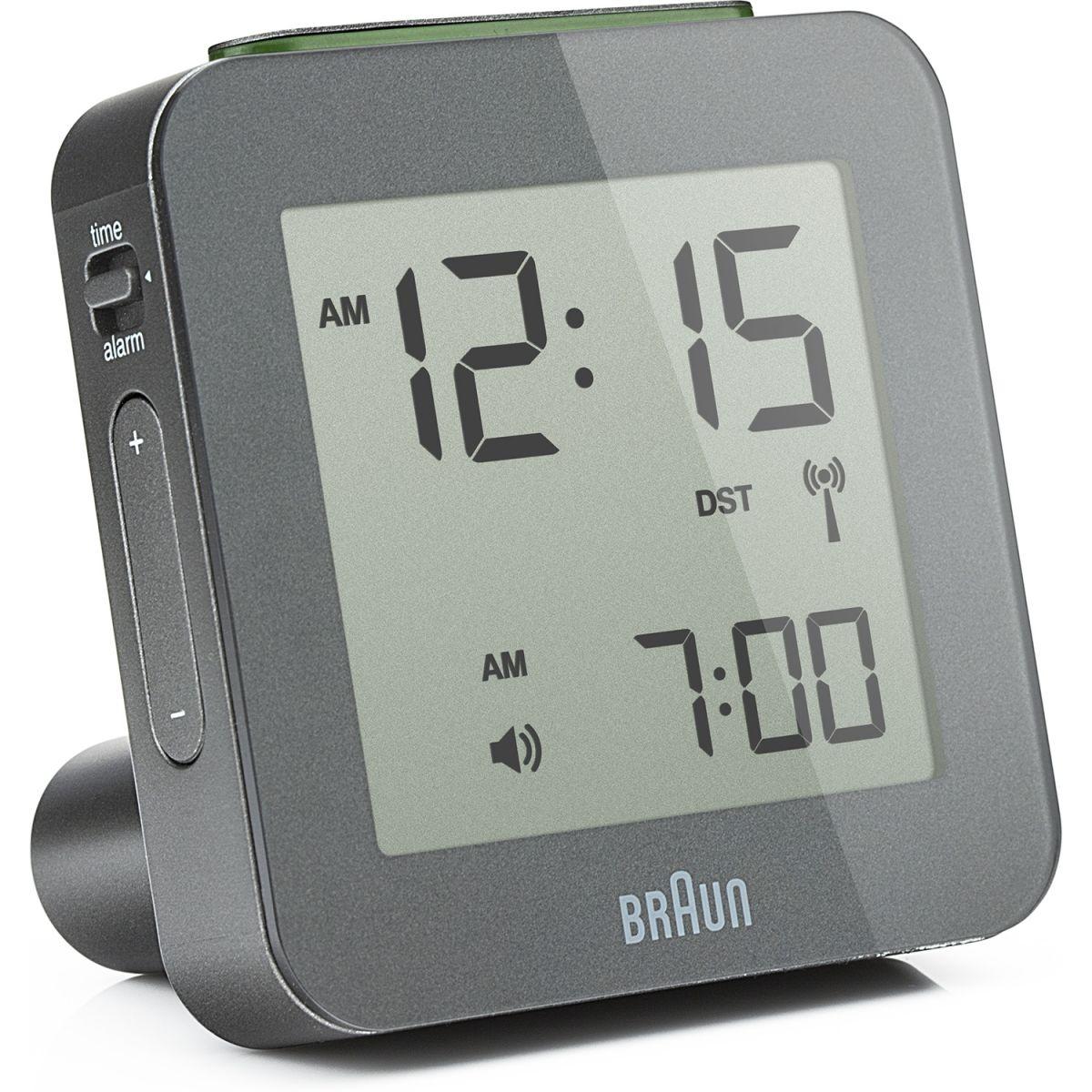 wanduhr braun clocks digital uhr wecker uhren bnc009gy rc. Black Bedroom Furniture Sets. Home Design Ideas