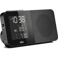 horloge Braun Clocks Digital Radio Alarm Clock Radio Controlled BNC010BK-SRC