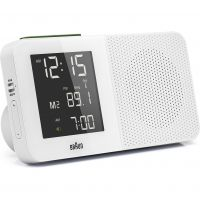 Wanduhr Braun Clocks Digital Radio Alarm Clock Radio Controlled BNC010WH-SRC