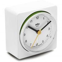 Wanduhr Braun Clocks BNC011 Classic Bedside Alarm BNC011WHWH