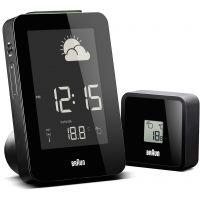 Wanduhr Braun Clocks Weather Station Alarm Clock Radio Controlled BNC013BK-RC