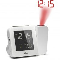 Wanduhr Braun Clocks Projection Alarm Clock Radio Controlled BNC015WHUK-RC