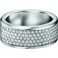 Ladies Calvin Klein Stainless Steel Size O Hook Ring KJ06WR040107