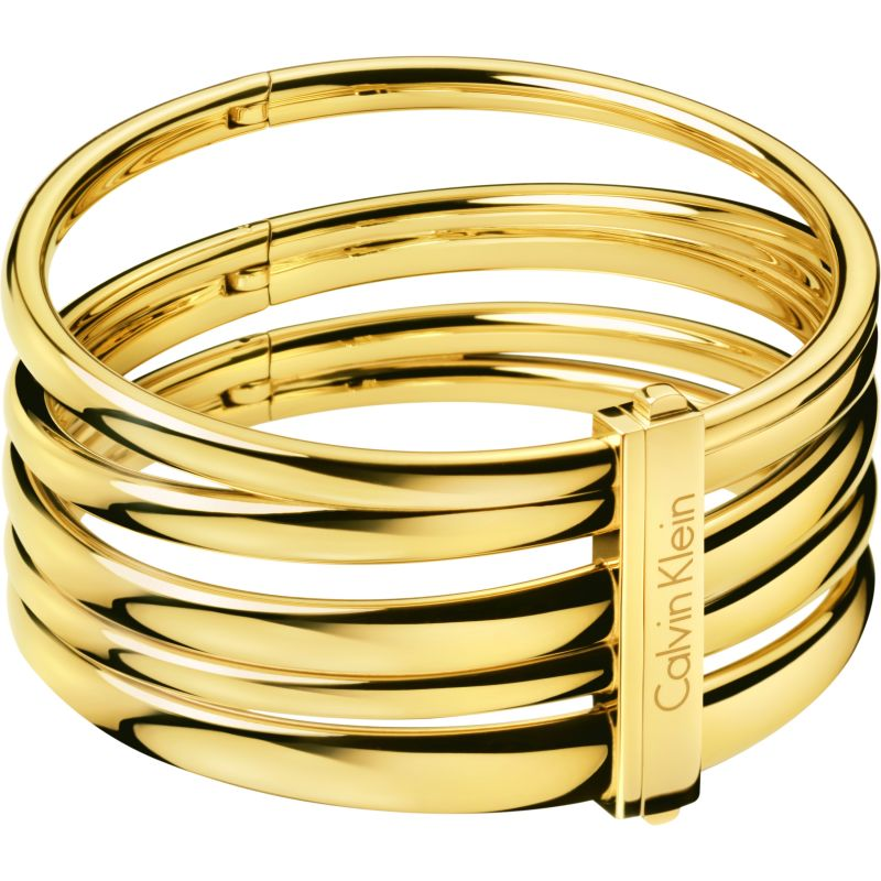 Ladies Calvin Klein PVD Gold plated Small Sumptuous Bangle KJ2GJD10010S