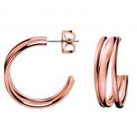 Damen Calvin Klein PVD Rosa plating Sumptuous Ohrringe