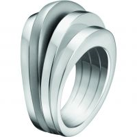 Ladies Calvin Klein Stainless Steel Size L.5 Breathe Ring KJ3DMR080106