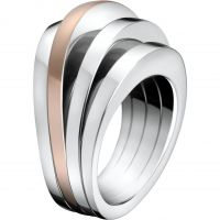 Ladies Calvin Klein Two-tone steel/gold plate Size L Breathe Ring