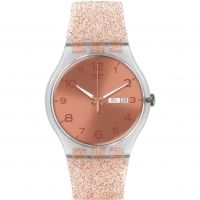 Unisex Swatch New Gent - Pink Glistar Watch