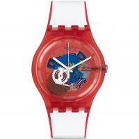 Orologio da Unisex Swatch New Gent - Clownfish Red SUOR102