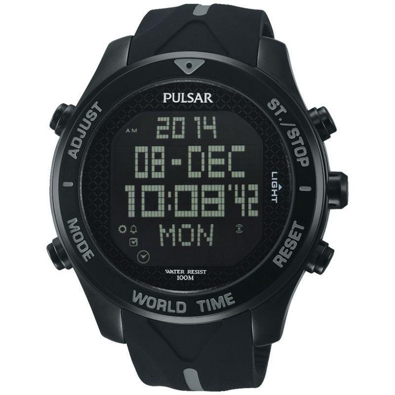 homme Pulsar Alarm Chronograph Watch PQ2041X1