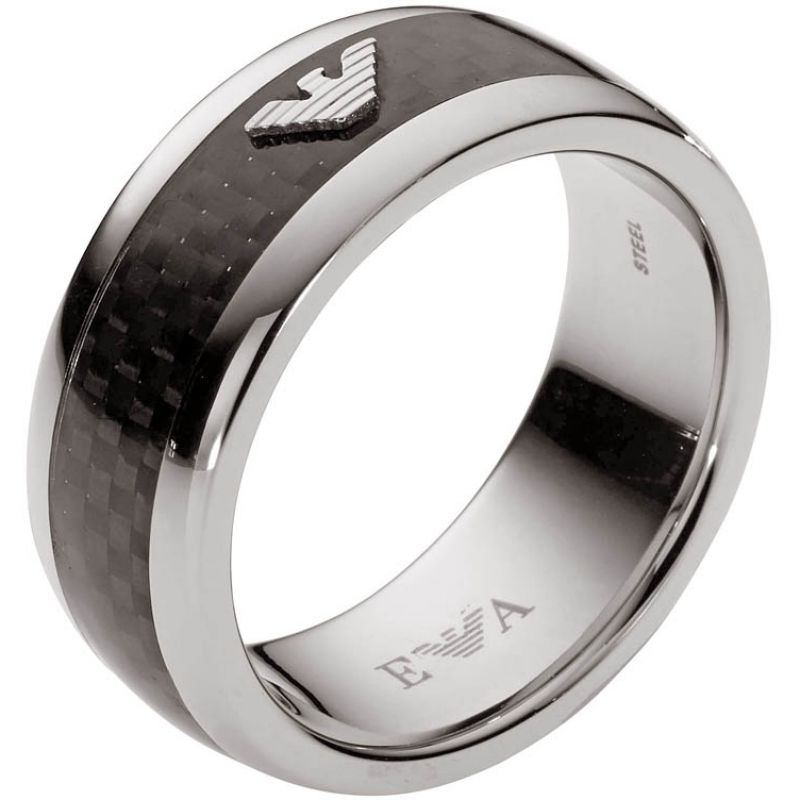 Mens Emporio Armani Stainless Steel Size X.5 Ring EGS1602040515