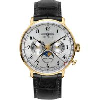 Herren Zeppelin Hindenburg Moonphase Uhr