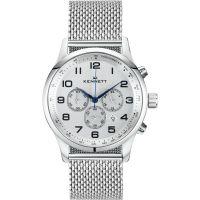 Herren Kennett Savro modern Milanaise-Geflecht  Chronograf Uhr