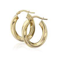 Oval Twisted Hoop Earrings