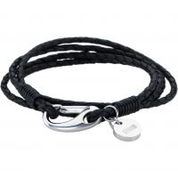 Mens STORM Stainless Steel Jax Wrap Bracelet Black