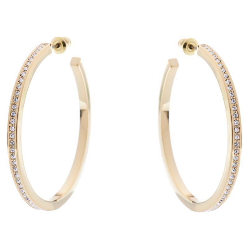 Ladies Karen Millen Large Hoop Earrings KMJ173-22-02