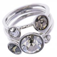 Ladies Ted Baker Jackie Jewel Stack Ring Ml TBJ462-01-110ML