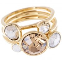 Ladies Ted Baker Jackie Jewel Stack Ring Sm TBJ462-02-62SM