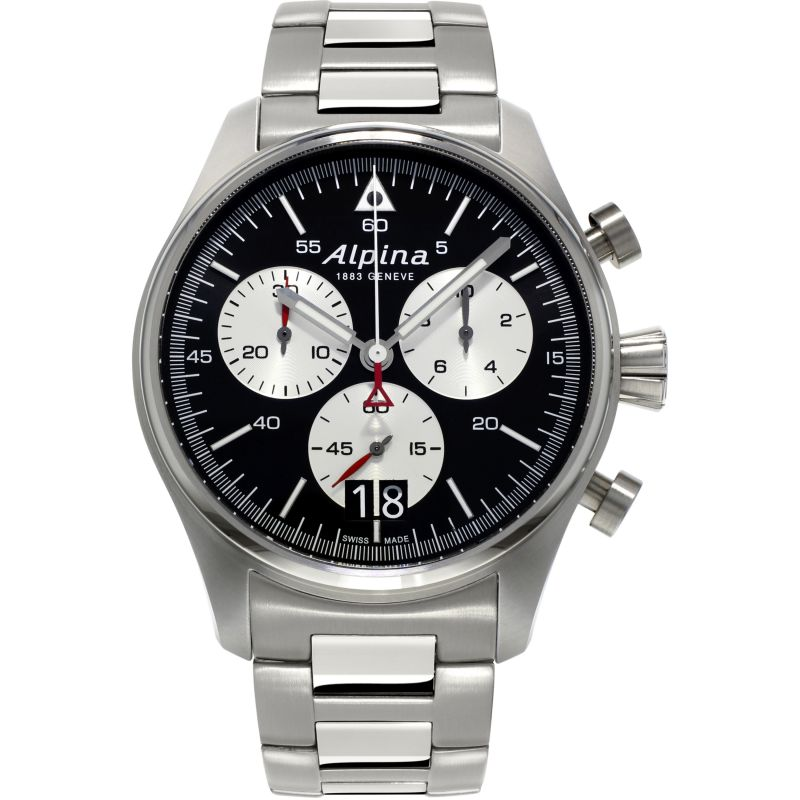 Mens Alpina Startimer Pilot Chronograph Watch AL-372BS4S6B