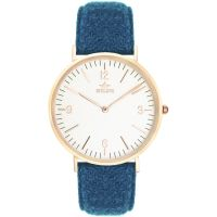 Birline High Beach Rose Gold Unisex horloge Blauw BIR001112