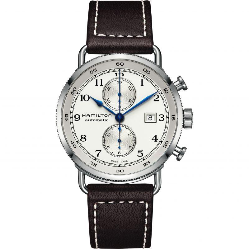 homme Hamilton Khaki Navy Pioneer Chronograph Watch H77706553