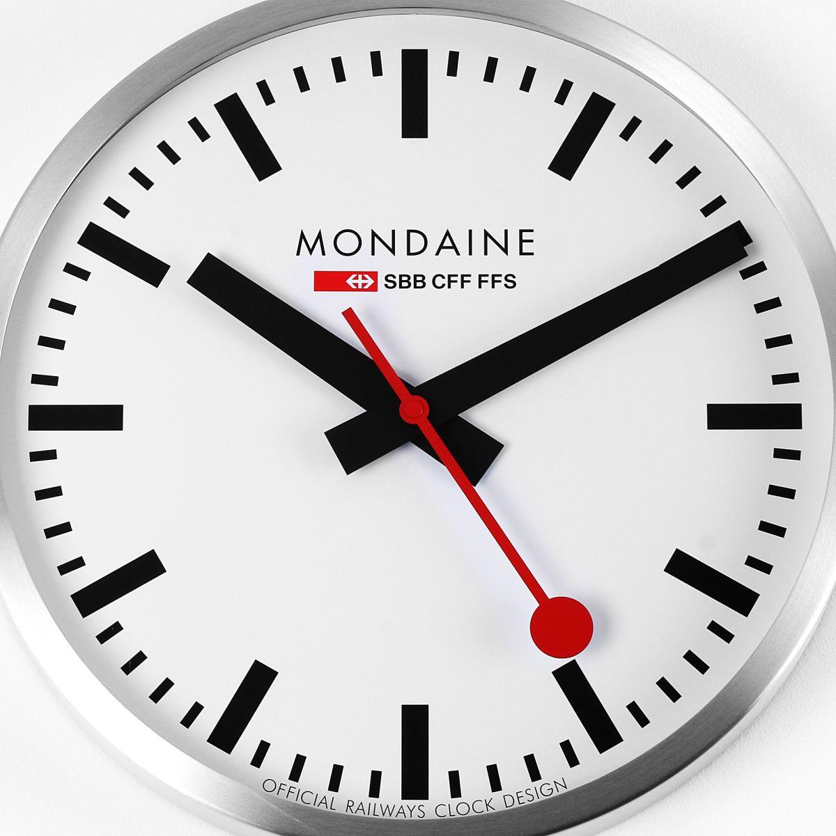 Horloge Mondaine Suisse Railways Grand Wall Clock Montre