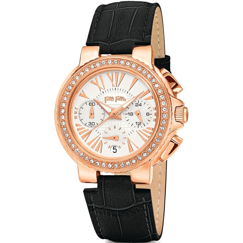 Ladies Folli Follie Watchalicious Chronograph Watch 6010.1397