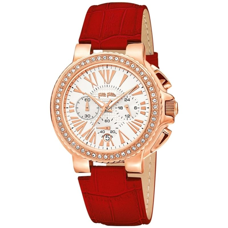 Ladies Folli Follie Watchalicious Chronograph Watch 6010.1130