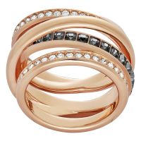 Damen Swarovski PVD Rosa plating Größe Q Dynamic Ring 58
