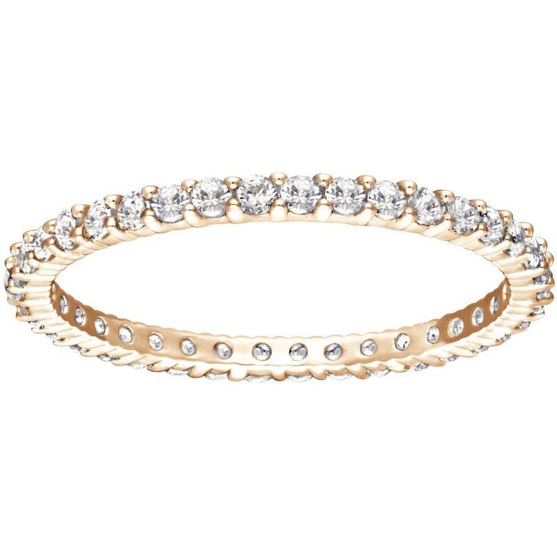 Ladies Swarovski PVD rose plating Size L.5 Vittorie Ring 52 5095328