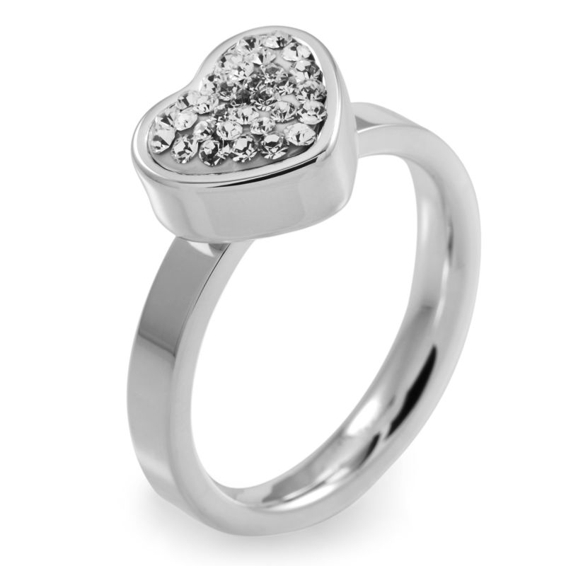 Folli Follie Dames Bling Chic Ring Roestvrijstaal 5045.3100