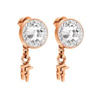 Ladies Folli Follie Sterling Silver Classy Earring 5040.2249