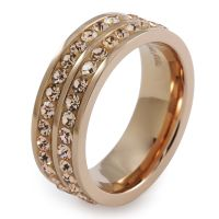 Ladies Folli Follie PVD rose plating Size P Classy Ring 5045.4497